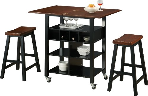 4D Concepts Phoenix Kitchen Island with 2 Stools For Sale
