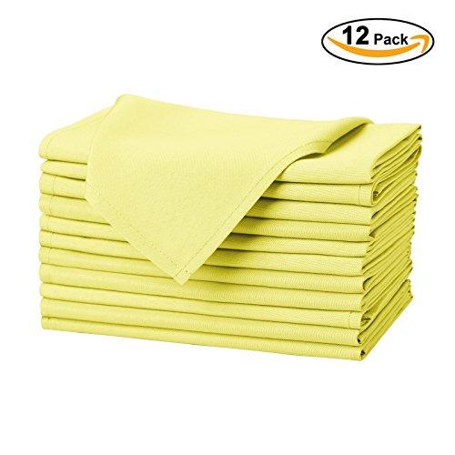 Yellow Wedding Napkins - 2