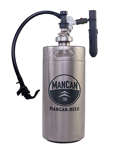 """ManCan 128 Flex With """"Perfect Pour"""" CO2 Regulator and Flexible Tap System"""