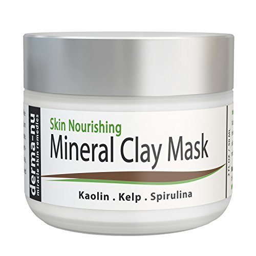 Clay Mud Mask For Cleansing Pores - Blackhead Remover Mask For Face - Treatment For Acne - Dry Sensitive & Oily Skin - Reduces Wrinkles & Minimizes Pores - Organic And Natural Skin Cleanser - 50ml (Best Anti Aging Night Cream For Oily Skin In India)