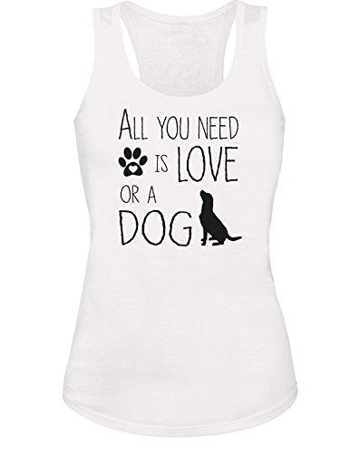 All you need is Love or a Dog - Hund - Hundebesitzer - Damen Tanktop:  Amazon.de: Bekleidung