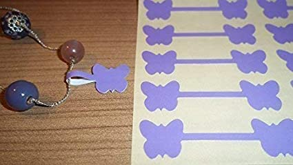 Labels Dumbells  Jewlry 100 Butterfly Jewellery Price Stickers 16 x 54mm Tags
