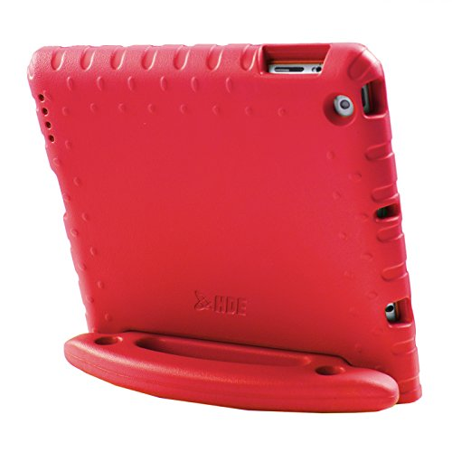 HDE Case for iPad 2 3 4 Kids Shockproof bumper Hard Cover Handle Stand with Built in Screen Protector for Apple iPad 2nd 3rd 4th Generation (Red)