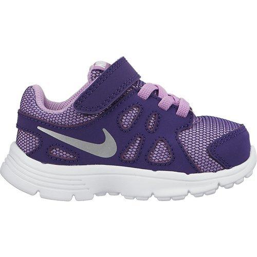 Nike Revolution 2 TDV - Zapatillas para Niños, Color Morado/Plata/Blanco,