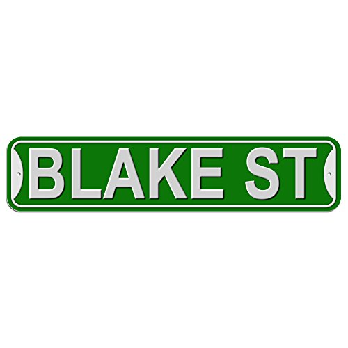 Blake St Street Sign - Plastic Wall Door Street Road Male Name - Green
