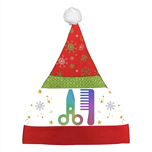 Scissors and Comb Colorful Kids Christmas Hat Xmas Mini Santa Caps Unisex Party Hats Christmas Eve Headdress