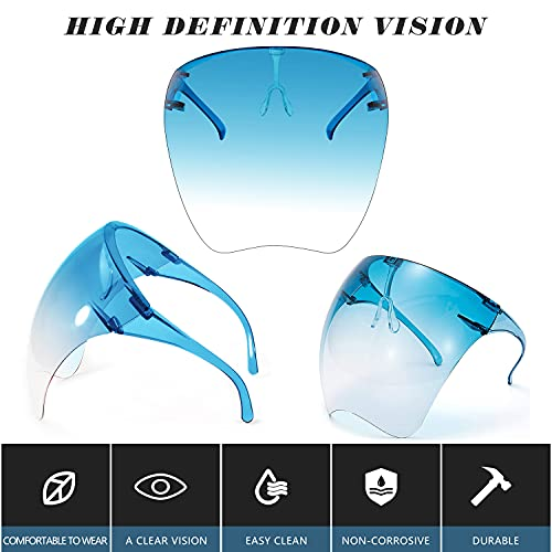 Face Shield, Protective Sunglasses Full Face with Anti Fog UV 400 Glasses for men and women
