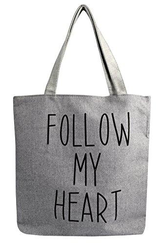 Peach Couture Denim Canvas Tote Laptop Bag Beach Handbags Womens Shoulder Bags (Grey)