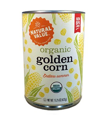 [8-11-17] Natural Value - Corn,Og,Gold,Whl Kernel, 12 x 15.25 OZ
