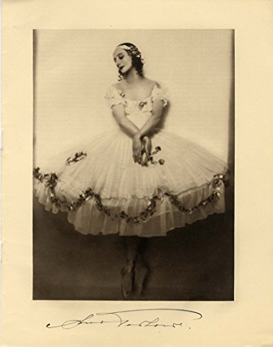 PRIMA BALLERINA Anna Pavlova autograph, signed booklet (Signed Ballerina)