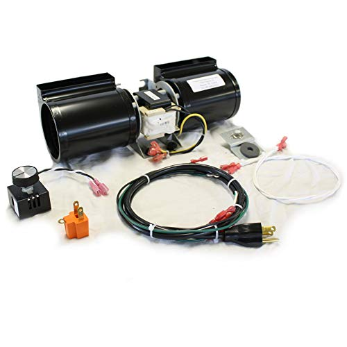 FireplaceBlowersOnline GFK-160 Fireplace Blower Kit for Heat N Glo, Hearth and Home, Quadra Fire, GTI, Fasco, Regency, Royal, Jakel, Nordica, Rotom | Ball Bearing, Quiet, High Air - Blower Heat