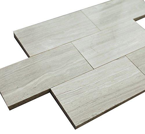 3x6 Grey Wooden Look Stone Tile Mosaics for Bathroom and Kitchen Walls Kitchen Backsplashes