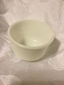 Amazon.com : Glasbake / Sunbeam white milk glass mixing bowl with ...