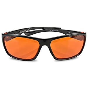 Fashionable Blue Blocking Amber Glasses for Sleep - BioRhythm Safe(TM) - Nighttime Eye Wear - Special Orange Tinted Glasses Help You Sleep and Relax Your Eyes (Amber)