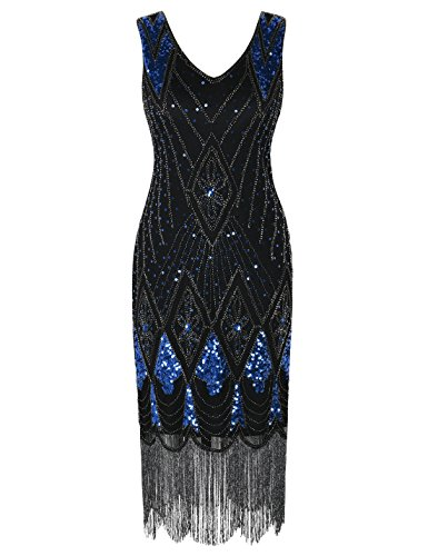 PrettyGuide Women 1920s Dress Gatsby Cocktail Sequin Art