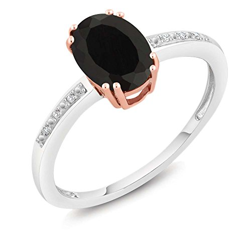Yellow Gold Oval Onyx - 8