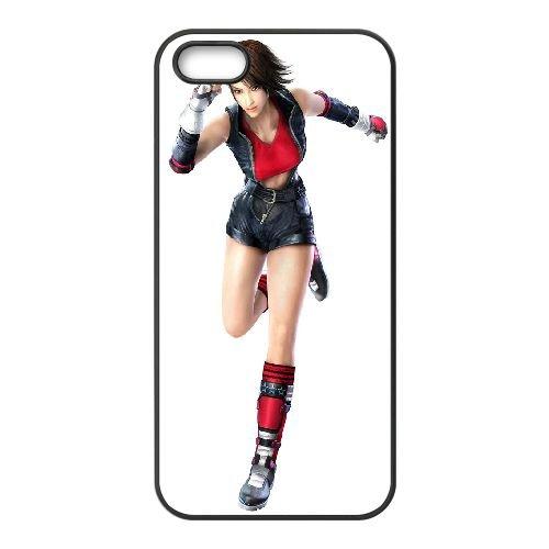 Asuka Kazama Tekken 333 coque iPhone 5 5S Housse téléphone Noir de couverture de cas coque EBDOBCKCO15031