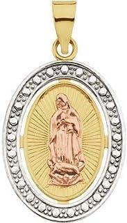 Dipinto a mano il nostro Lady di Guadalupe medaglia in porcellana