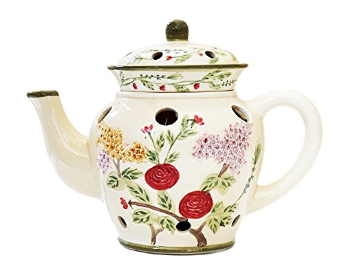 - Tuscan Flowered Garden Hand Painted Ceramic Electric Tart Burner, 89761 by ACK