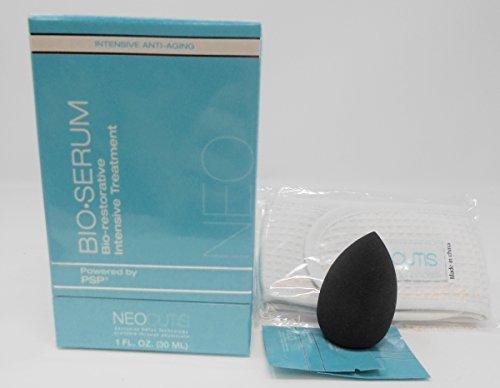 Neocutis Bio-Serum Bio-restorative Intensive Treatment, 1 Fl.Oz Anti-Aging Cosmetic Blender Sponge Bundle with FREE samples & Headband by NEOCUTIS