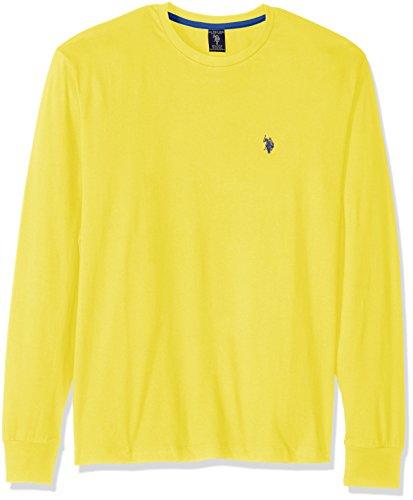 U.S. Polo Assn. Men's Long Sleeve Crew Neck T-Shirt, Starbrite, X-Large