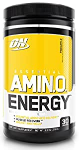Optimum Nutrition Amino Energy with Green Tea and Green Coffee Extract, Flavor: Pineapple, 30 Servings