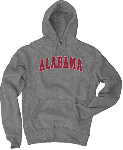 NCAA Alabama Crimson Tide Men's Sanded Fleece Pullover Hoodie, Vintage/Faded Gunmetal, Medium (Ncaa Alabama Fleece Hoodie)
