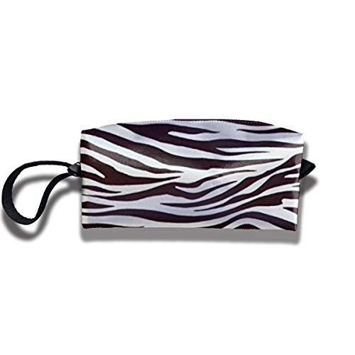 Teedertea Metro Living Zebra Chocolate Fashion Personalized Print Cosmetic Bag,Can Be Used As Pencil Case and Makeup Brush Bag