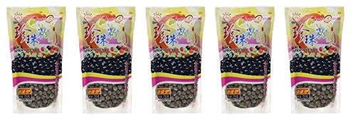 Wufuyuan - Tapioca Pearl (Black) - Net Wt. 8.8 Oz (Pack of 5) by WuFuYuan