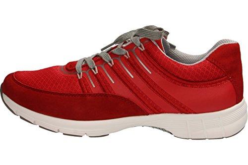 Señoras de la zapatilla de deporte del deporte Gabor 64.352.46 nightblue rot/rosso/silber
