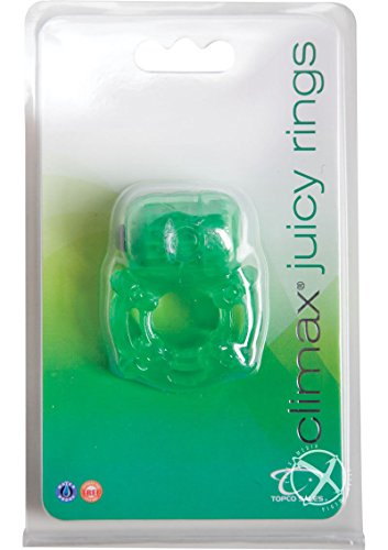 Siam Circus Climax Juicy Penis C- Rings Vibrating Stimulator Vibe Sex Toy Waterproof Green