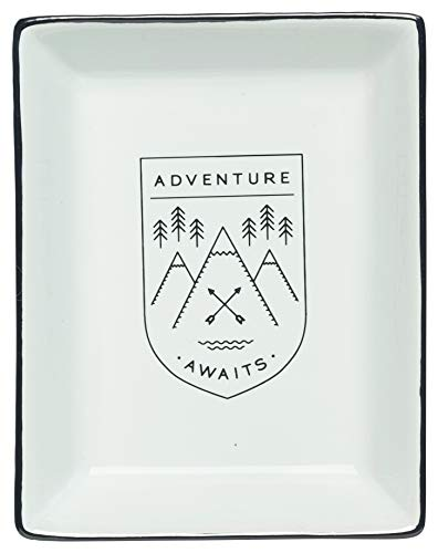Danica Studio Ceramic Bath Tray, Adventure Awaits