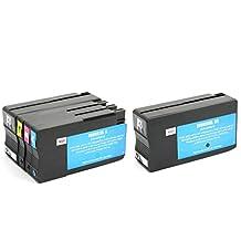 5 Pack SaveOnMany® HP 950XL 951XL Compatible (2*Black, 1*Cyan Yellow Magenta) High Yield 951-XL 950-XL HP950XL HP951XL BK/C/M/Y Ink Cartridge For HP OfficeJet Pro 251dw, 276dw MFP, 8100, 8600 - N911a - CM749A, 8600 Plus - N911g - CM750A, 8600 Premium - N911n, 8600A, 8610, 8615, 8620, 8625, 8630