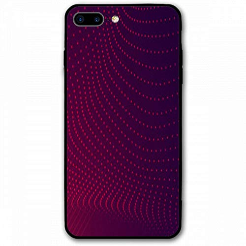 (Protective iPhone 7 Plus Case with Back Cover and Bumper Case for iPhone 7 Plus - Red Feathered Bird Flower)