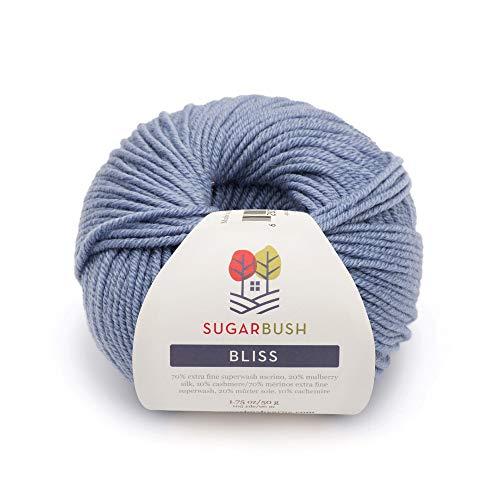 Sugar Bush Yarn Bliss Light Weight - Merino Wool -  Arctic Sky