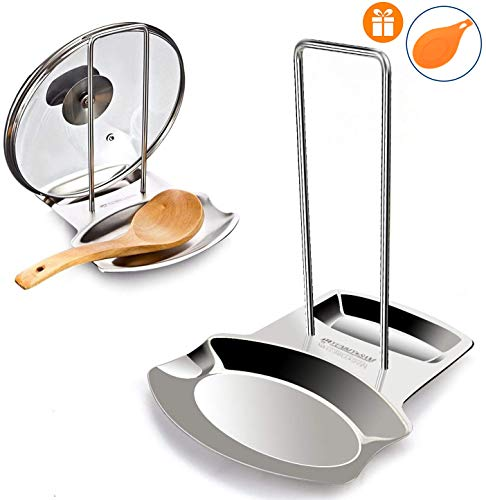Yummy Sam Lid and Spoon Rest,Stainless Steel