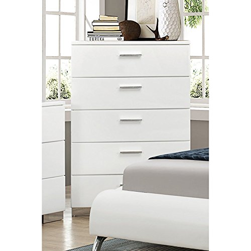Coaster 203505 Home Furnishings Chest, Glossy White (Felicity One Handle Kitchen)