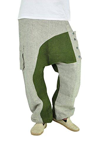 Virblatt Un De Gris Haute Avec Pantalon Qualité Kopfkino Vert Ethniques Cargo Vêtements Design Et Unique Tissu Robuste qAETqOCx