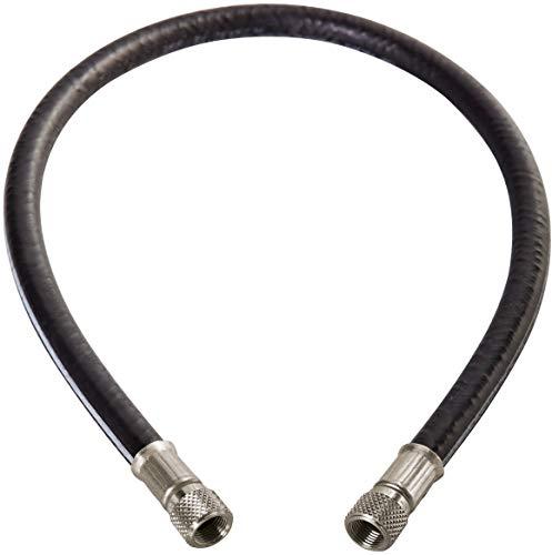 CPS HV5Z - 5'' Black Vacuum Hose 3/8' Chrome Fittings