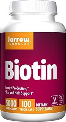 Jarrow Formulas Biotin 5000mcg, 100 Capsules