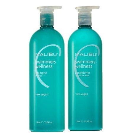 MALIBU C nageurs Wellness Shampooing et revitalisant Combo, 1 litre chacun