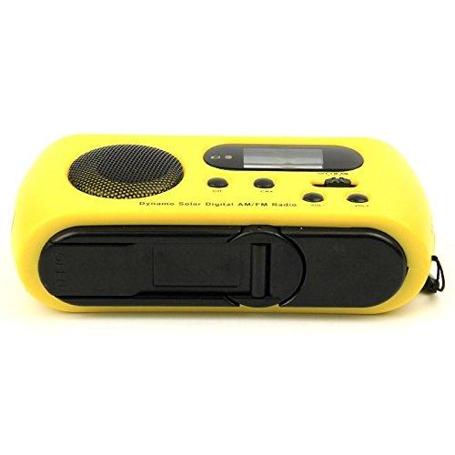 Multifunctional Survival Handheld Solar Powerd Hand Crank 3 LED Flashlight Self Powered AM/FM Digital Radio Phone charger (pattern1 yellow)