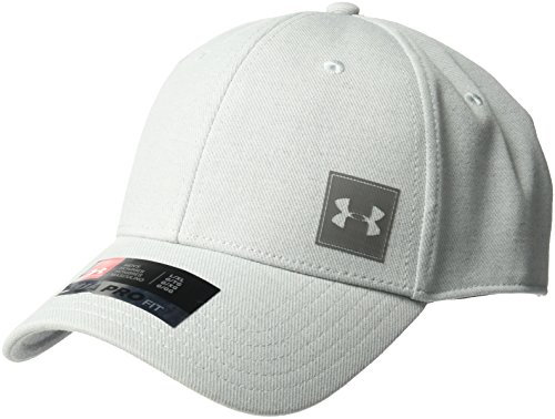 Under Armour Men's Wool Low Crown Cap, True Gray Heather (025)/Graphite, Large/X-Large