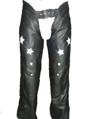 First Manufacturing Women's Reflective Star Chap (Black, X-Large) by First Manufacturing