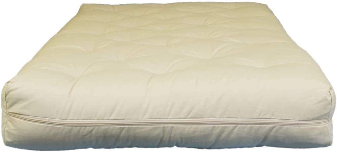 6 inch Cotton and Wool Fiber Futon King
