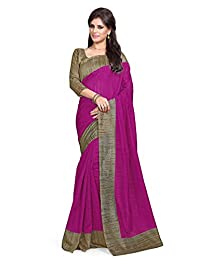 Mirchi Fashion Women's Printed Casual Indian Saree with Unstitched Blouse Piece