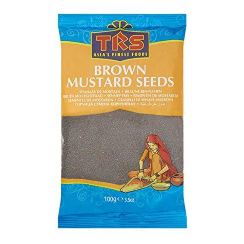Trs Brown Mustard Seeds 100g Semillas De Mostaza Granos Ingrediente