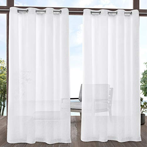 "Exclusive Home Curtains Tao GT Panel Pair, 54 x 96"", White"
