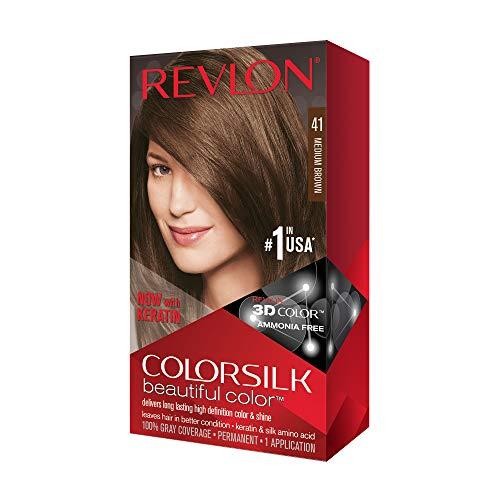 Revlon ColorSilk Tinte de Cabello Permanente Tono #41 Castano Medio