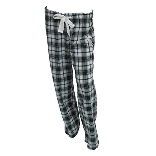 Concepts Sport Michigan State University Ladies Flannel Plaid Pajama Pants (Large)